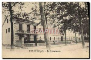 Old Postcard Police Detective Draguignan Gendarmerie