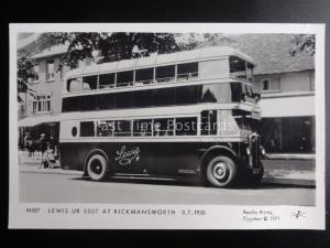 Bus DOUBLE DECKER LEWIS UR 5507 AT RICKMANSWORTH Pamlin Print RP Postcard M587