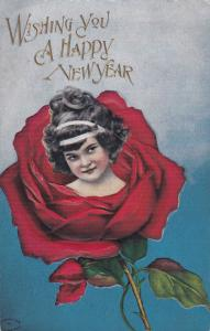 NEW YEAR : Girl inside a rose , 00-10s