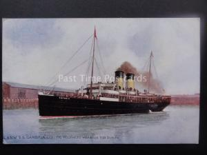 Railway Official L&NW SS CAMBRIA Leaves Holyhead Harbour for Dublin Old Postcard