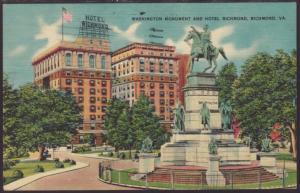 Monument,Hotel Richmond,Richmond,VA Postcard