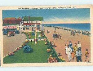 Pre-Chrome HOTEL SCENE Rehoboth Beach Delaware DE AH5957