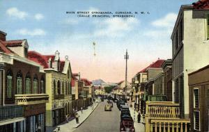 curacao, N.W.I., WILLEMSTAD, Otrabanda, Main Street (1940s)