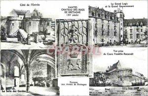 Postcard Modern Nantes Chateau des Ducs de Bretagne (XVth Century) the entry ...
