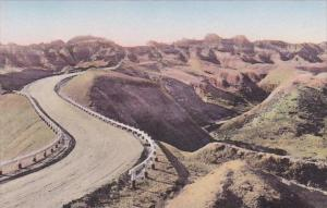 Dillon Pass The Badlands Nat Monument South Dakota Hand Colored Albertype