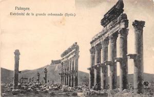 Syria Syrie Palmyra Extremite de la grande colonnade (Turquie)