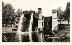 Canada - Ontario, Peterborough. Hydraulic Lift Lock.    *RPPC