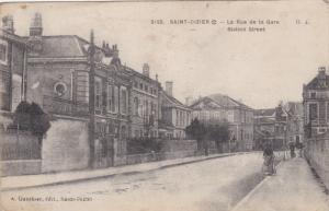 SAINT DIZIER , France , PU-1918 ; La Rue de la Gare