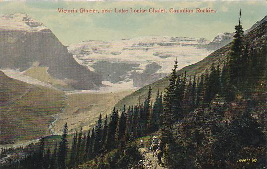 Canada Victoria Glacier Near Lake Louise Chalet Canadian Rockies