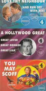 TV Dinners Secret Lives Brookside 3x Channel 4 TV Show Postcard s