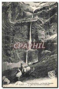 Old Postcard The Pyrenees Gavarnie La Grande Cascade view Scales of Saradet S...
