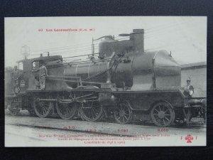French Railway Locomotive PLM Series 3401 to 3750 No.3603 c1905 Postcard
