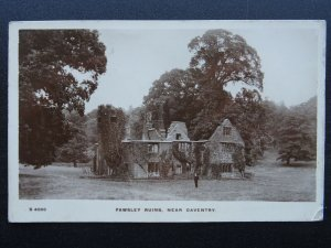 Northampton DAVENTRY Fawsley The Dower House Ruins c1912 RP Postcard by Kingsway