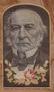 Stevengraphs Thomas Stevens Gladstone Liberal MP Woven In Pure Silk Coventry ...