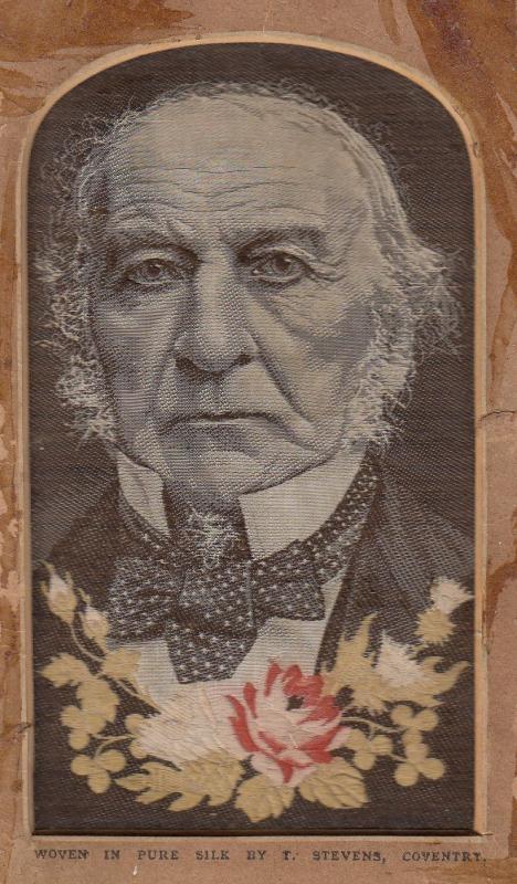 Stevengraphs Thomas Stevens Gladstone Liberal MP Woven In Pure Silk Coventry ...