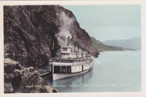 RP: Steamer TUTSHI , West Taku Arm, White Pass & Yukon rout, Yukon , Canada...
