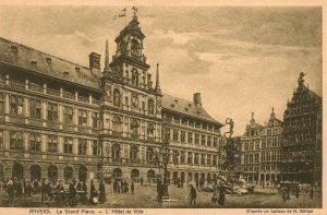 La Grand Place,L'Hotel de Ville,Antwerp,Belgium BIN