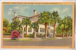 Res NC 1st Governor, Wilmington NC
