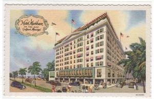 Hotel Markham Gulfport Mississippi linen postcard