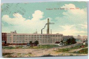 postcard Goodyear Tire & Rubber Co., Akron, Ohio