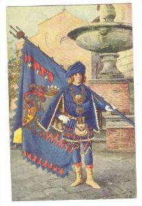 Paggi delle storiche Contrase di Siena, NICCHIO, Page with Flag, Toscana, Ita...