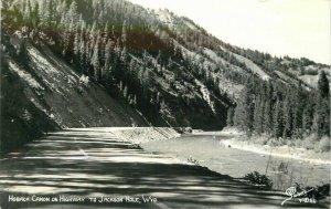 Hoback Canon Highway Jackson Hole Wyoming 1940s Sanborn RPPC Photo Postcard 9170