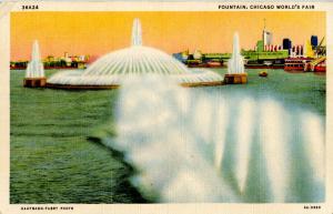 IL - Chicago. 1933 World's Fair-Century of Progress. Beautiful Fountain