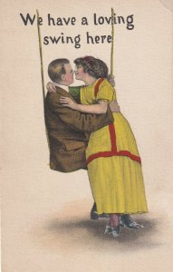 We have a loving swing here, 1900-10s; Romantic Couple