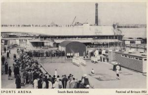 Festival Of Britain Sports Arena Southbank Exhibition London Postcard