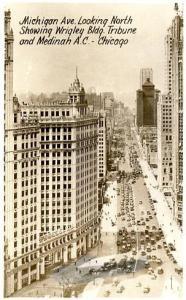 IL - Chicago, Michigan Avenue looking North    *RPPC