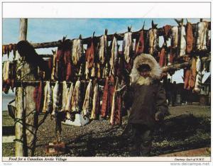 Food for a Canadian Eskimo Artic Village ,  N.W.T. , Canada , 50-70s