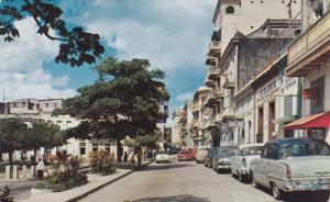 Old San Francisco Street, San Juan, Puerto Rico, 1960-70s PU