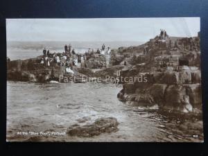 Ireland: Antrim PORTRUSH Divers & Tourists at the BLUE POOL c1929 RP Postcard