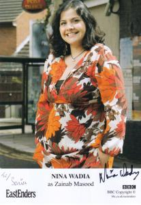 Nina Wadia as Zainib Masood BBC Eastenders Hand Signed Cast Card Photo