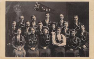 Minneapolis~Int'l Order Good Templars~IOGT~St Olav Lodge Portrait~1908 RPPC