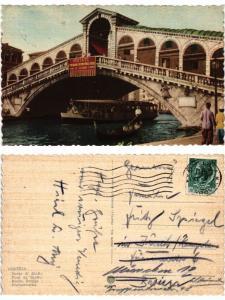 CPA AK VENEZIA Ponte di Rialto ITALY (520223)