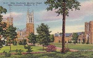 North Carolina Durham Main Quadrangle Showing Chapel Duke Universiy 1943