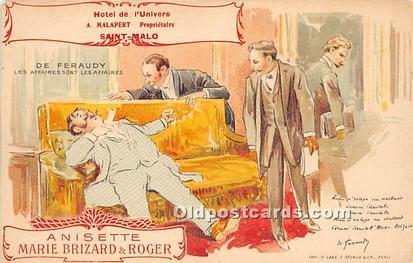 Advertising Postcard - Old Vintage Antique Hotel De I'Univers A Nisette ...