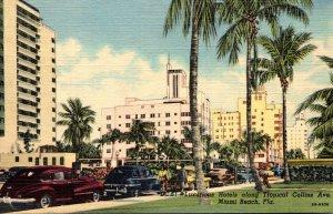 Florida Miami Beach Luxurious Hotels Along Tropical Collins Avenue Curteich