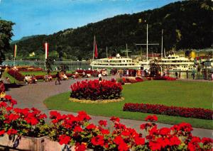 Bregenz am Bodensee See Anlagen River Promenade Boats Postcard