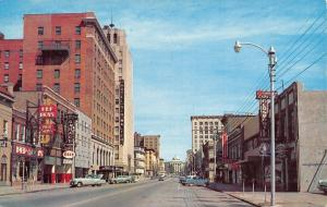 Raleigh NC~Fayetteville Street~Cadillac Oldmobile Car Dealer~Pep Boys~Esso~1950s