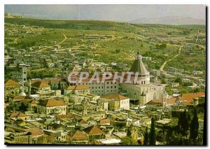 Postcard Modern Nazareth Partial Center Basilica of the Annunciation