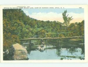 Unused W-Border BRIDGE SCENE Utica New York NY HJ0240