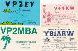 Tangerant West Java Indonesia West Indies 4x QSL Radio Card s