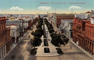 HABANA HAVANA CUBA~PASCO del PRADO~PRADO PROMENADE POSTCARD 1910s
