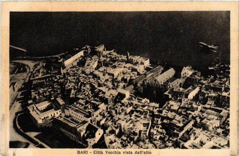CPA AK BARI citta vecchia vista dall'Alto. ITALY (531576)