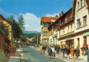 Poland Karpacz Ulica i Maja Street Promenade Psotcard