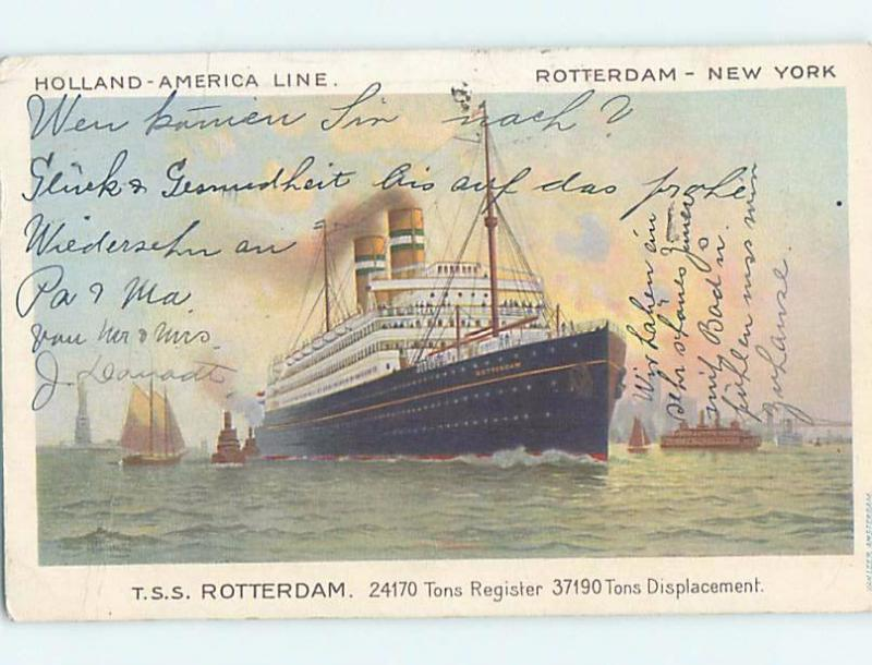 1920's postcard of NAMED IDENTIFIABLE BOAT hp8470