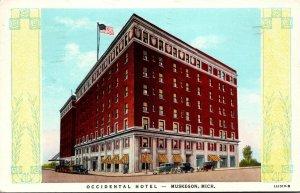 Michigan Muskegon Occidental Hotel 1946 Curteich