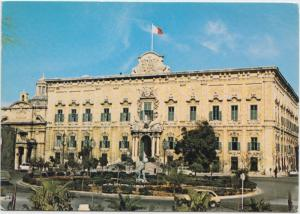 MALTA, Auberge de Castille, Valletta, used Postcard